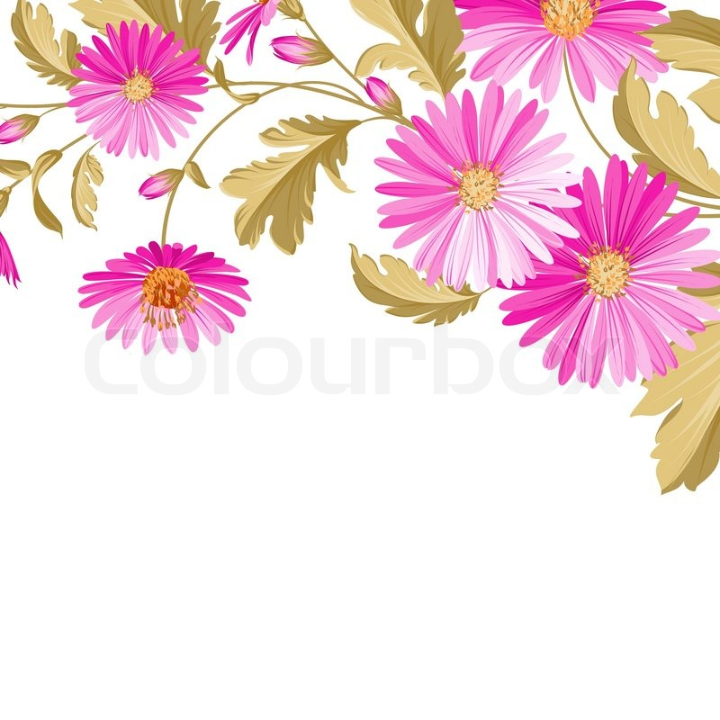 Flower Background With Violet Flowers For Yor Wedding