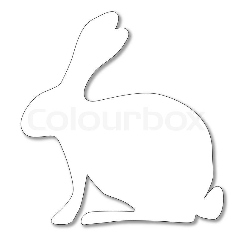 Weißer Hase Stock-Vektor Colourbox