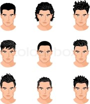 set of close hair