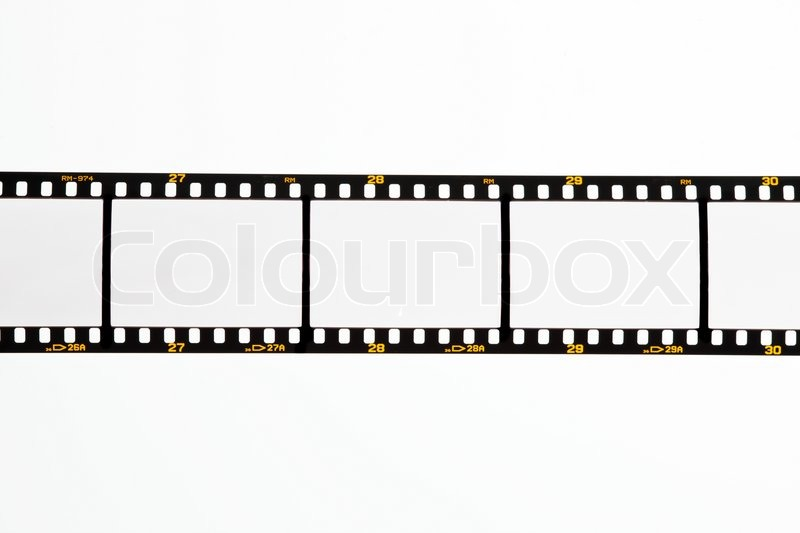 Film strips for APGVis with text space. Blank Dia 35mm