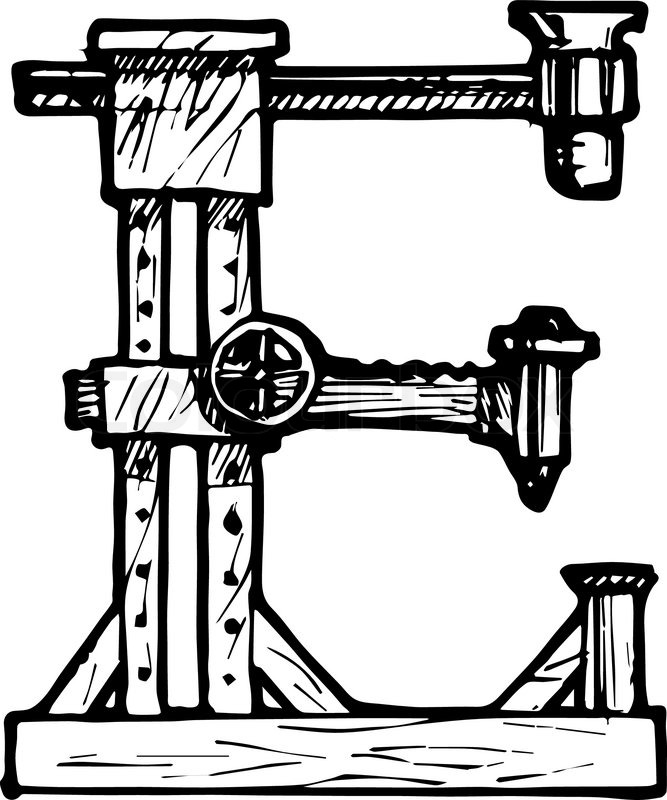 Steampunk letter made of different technical pieces: pipes