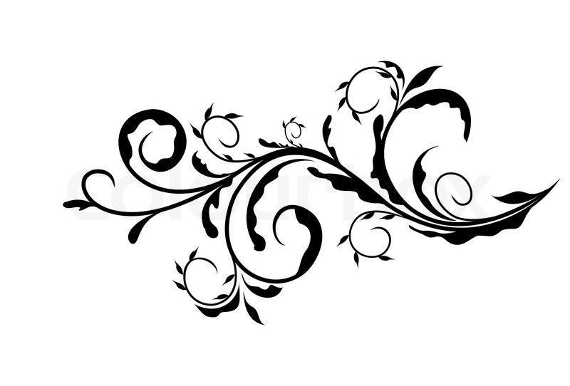 Blumig muster wirbel  Vektorgrafik  Colourbox