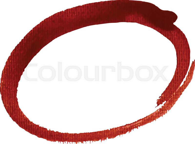 Red Oval Highlight Circle Vector Illustration Stock