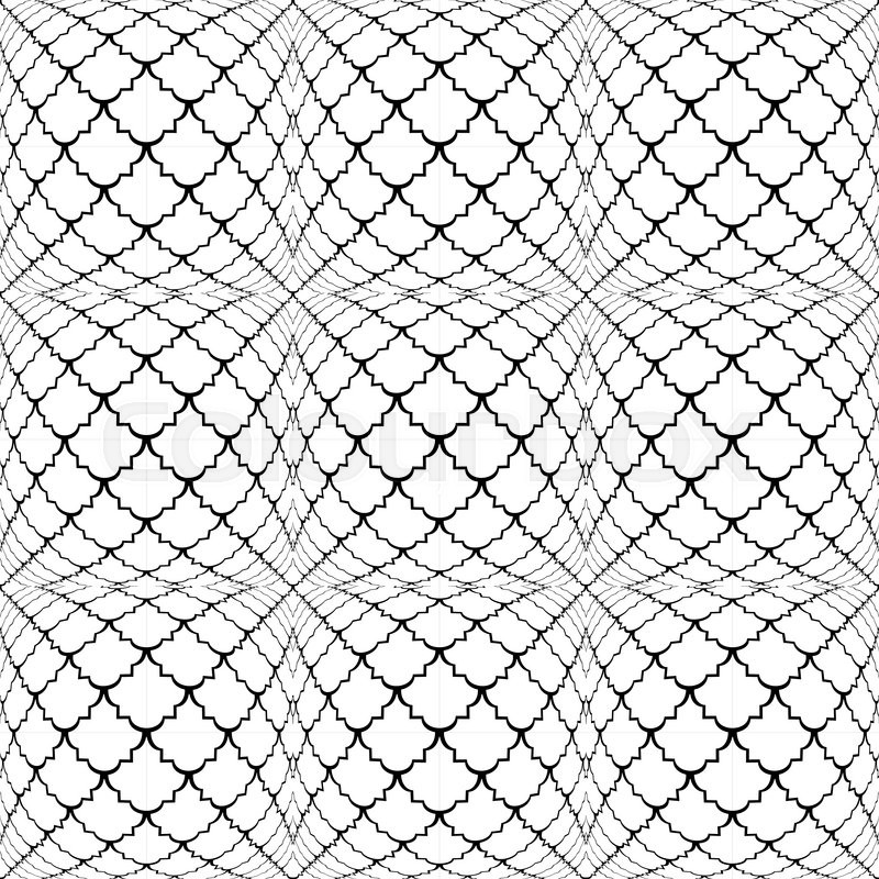 Design seamless monochrome convex pattern. Abstract grid