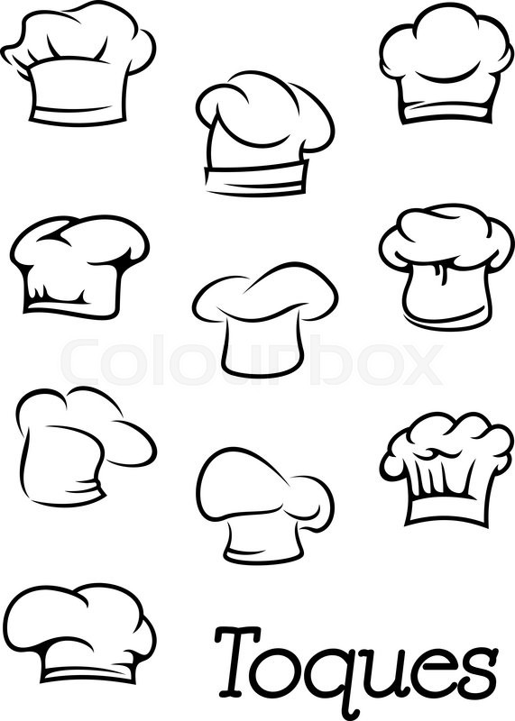 Chef, cook or baker traditional professional toques and
