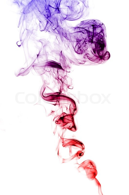 Colorful abstract smoke on white   Stock Photo  Colourbox