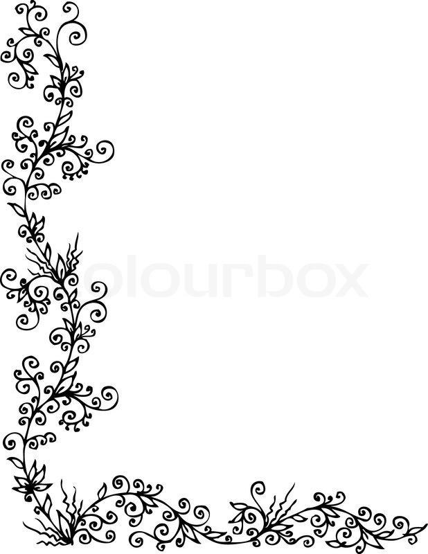 Floralen Ornament 303 Eauforte   Vektorgrafik  Colourbox