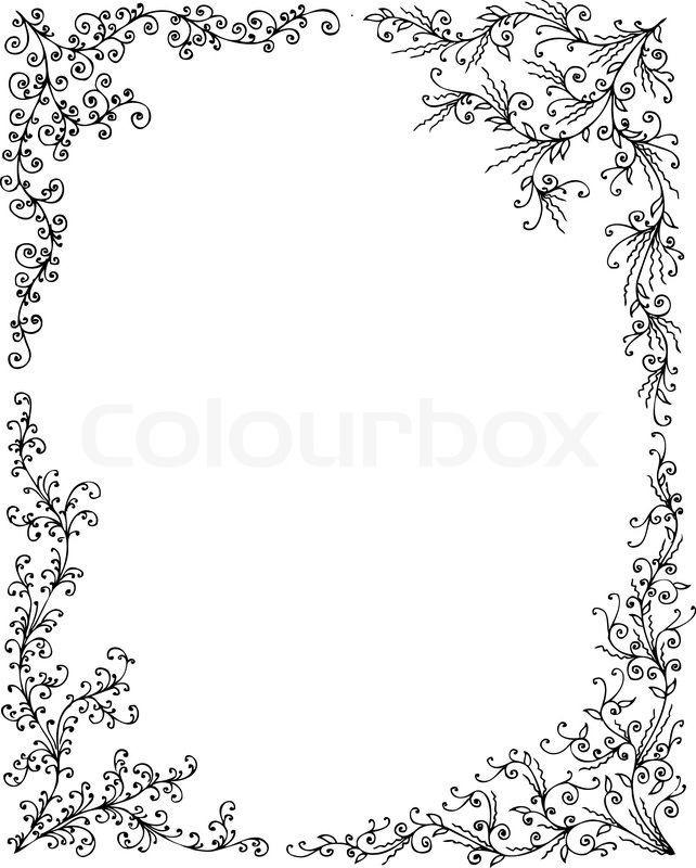 Floral Frame set 1 Eau-forte decorative background texture