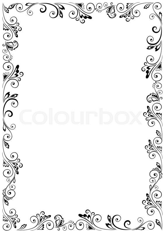 Floral vector frame format A4  Stock vector  Colourbox