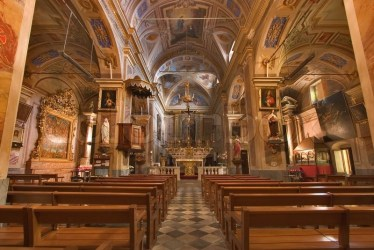A magnificent interior of church in a Stock image Colourbox