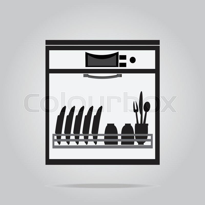 dishwasher symbol icon vector
