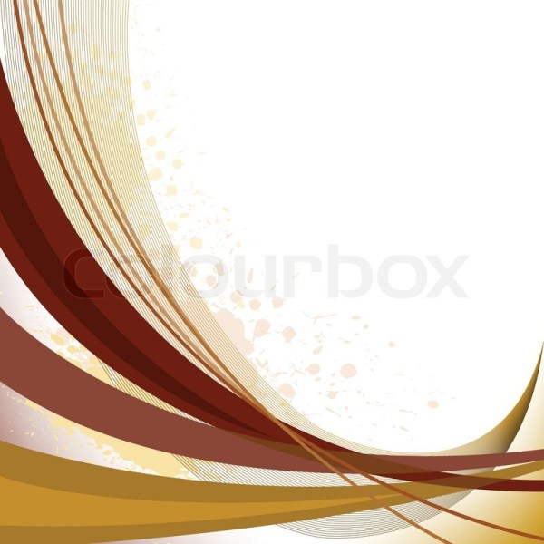 Abstract Background With Brown Curved . Stock Vector Colourbox
