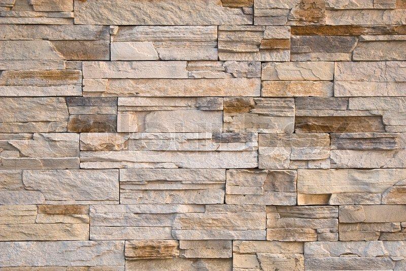 stone wall beige bricks