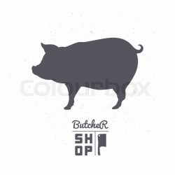 pig silhouette butcher vector pork meat template clipart clip illustration pigs illustrations packaging craft restaurant food graphics royalty dirty litter