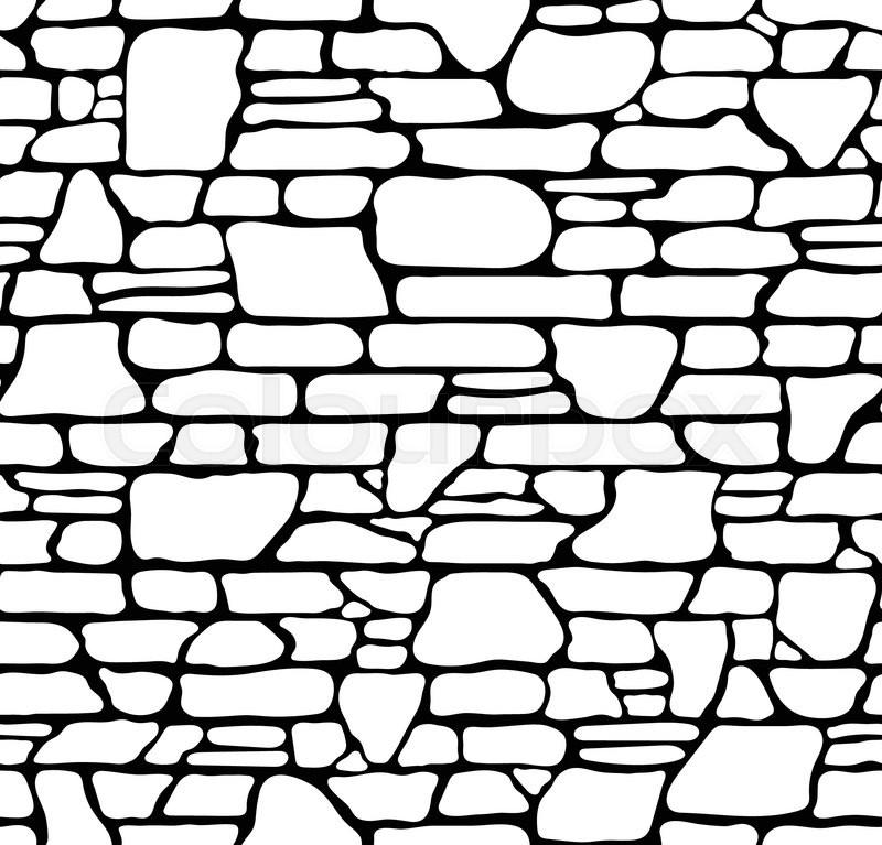 Seamless Grunge Stone Brick Wall Texture. Vector