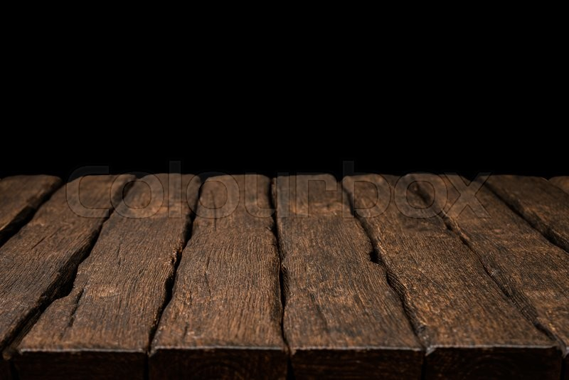 Old rustic wooden table top with solid   Stock Photo