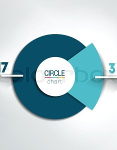 Stock vector of  round circle chart graph simply color editable infographics also rh colourbox