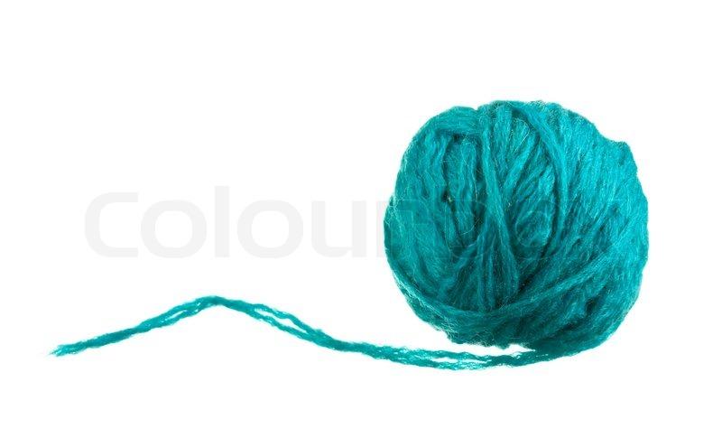 Wollknuel auf einem weien Hintergrund  Stockfoto