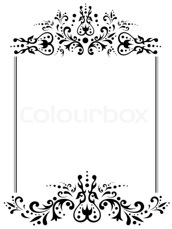 Illustration von Vintage Rahmen mit copyspace in schwarz