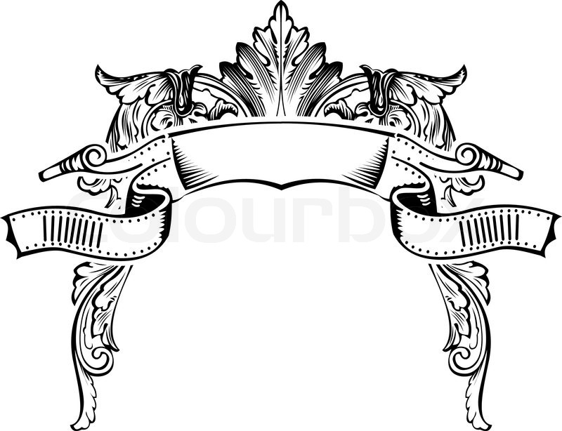 Antique Half Frame Engraving, Scalable And Editable Vector