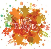 Watercolor design style Happy Thanksgiving Day logotype ...