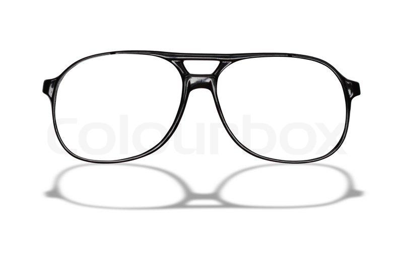 Sort briller isoleret på hvid baggrund med fritlægning