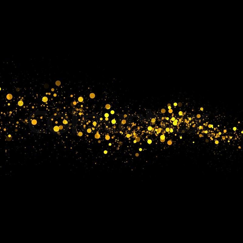 Falling Glitter Wallpaper Gold Glittering Bokeh Stars Dust Tail Stock Photo