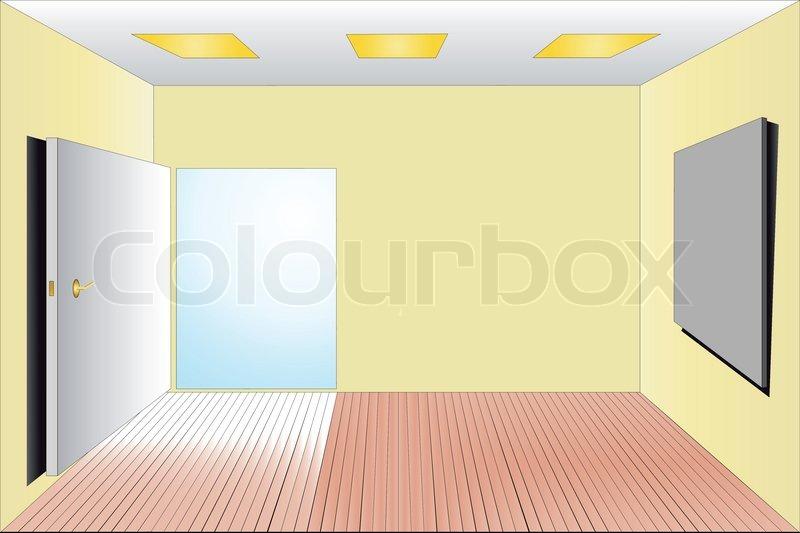 Vector Illustration Of Empty Room Stock Vector Colourbox
