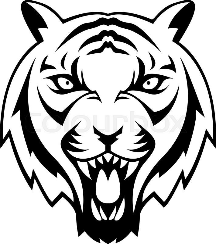 Tiger Symbol Illustration Design Stock Vector Colourbox