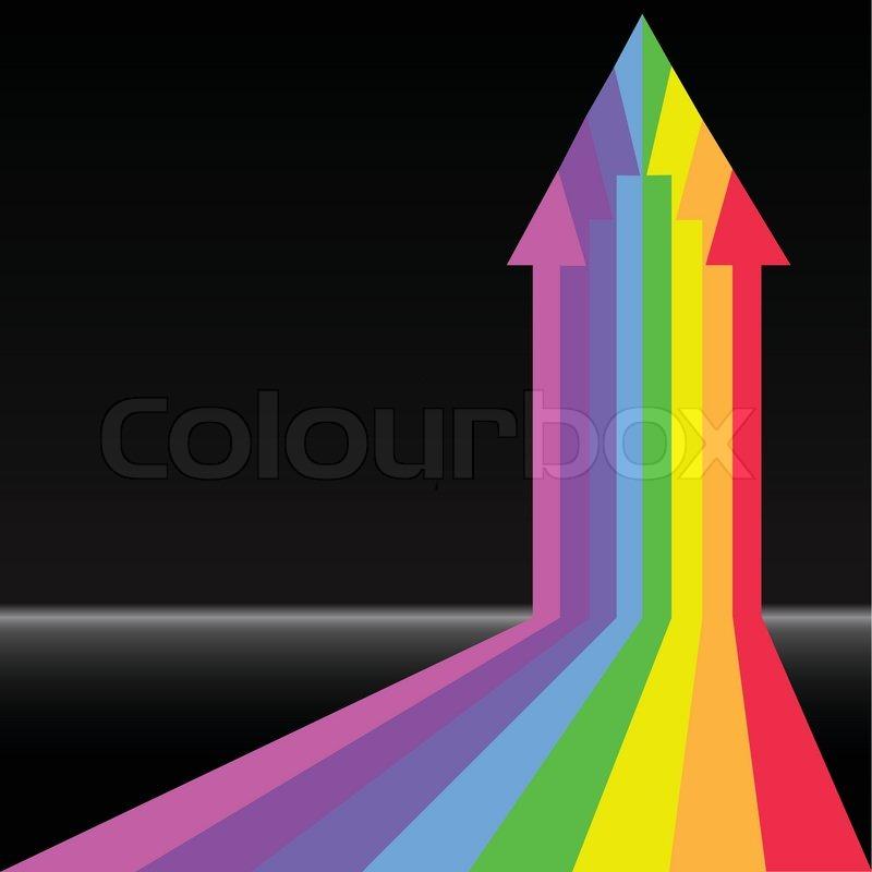 Backround Arrow Rainbow