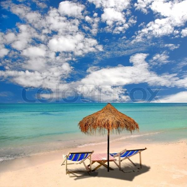 Tropical Beach Umbrellas