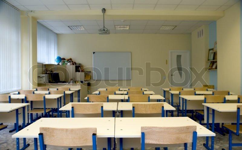 Empty class at school  Stock Photo  Colourbox