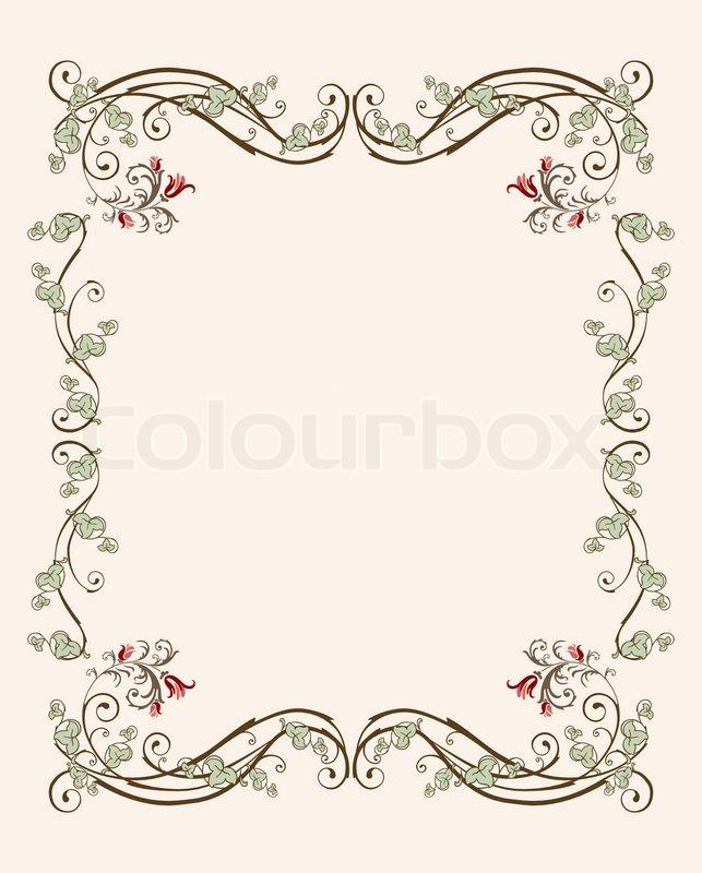 Vintage florale Rahmen mit Tulpen  Vektorgrafik  Colourbox