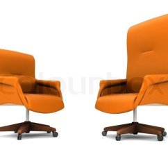 Orange Office Chair Unusual Leather Isolated On White Stock Photo Colourbox