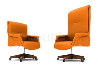 Orange office chair isolated on white background | Stock ...