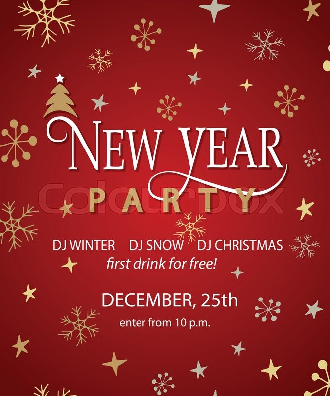 New Year Party Background Design Template New Year Party