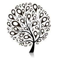 Art tree beautiful for your design   Stock Vector   Colourbox