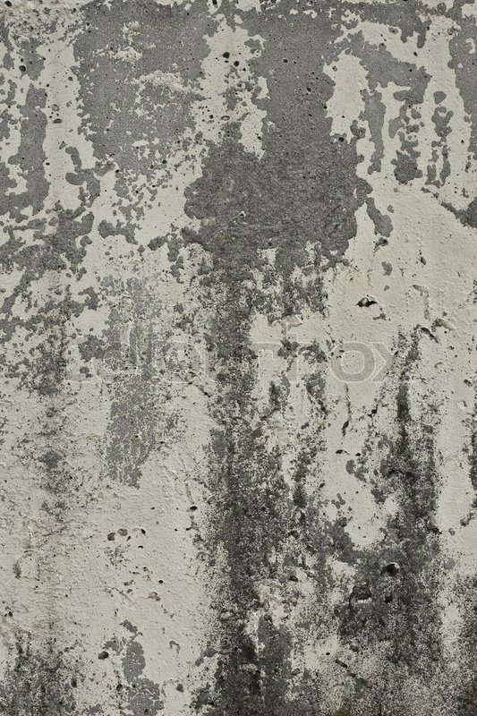 Texture Of The Old Wall Of Concrete With Peeling Paint