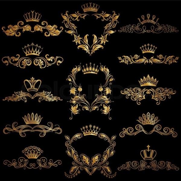 Royal Gold Crown Logo Design