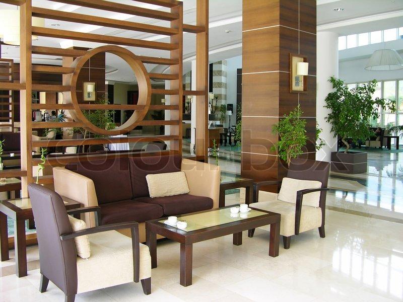 modern sofa plans free long corner sofas uk hotel lobby | stock photo colourbox