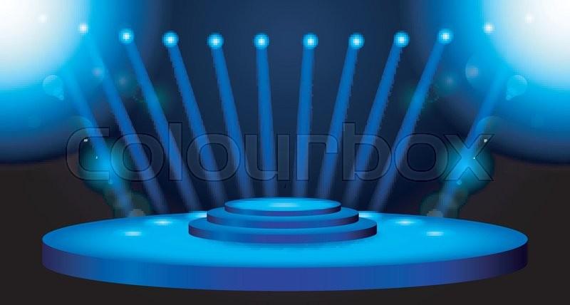 vector illustration of stage lighting