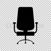 Office chair sign. Flat style icon on transparent ...