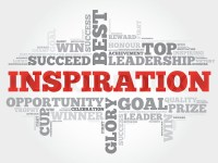 Inspiration word cloud, business concept