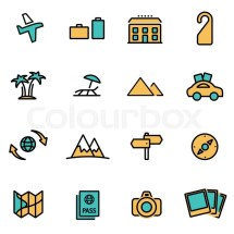 Trendy Flat Line Icon Pack Designers And Developers
