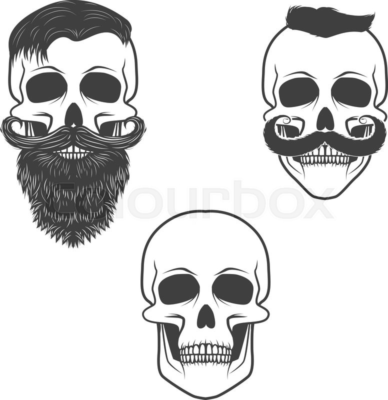 set of skulls with