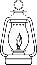 Symbol old dusty oil lamp Isolated on Stock vector Colourbox
