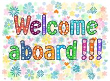 Welcome aboard typography lettering decorative text. T ...