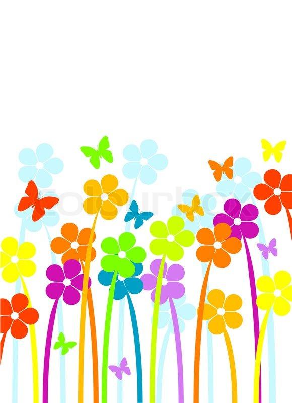 Spring Here Border Clip Art