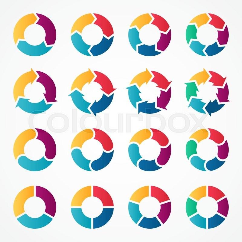 3 arrow circle diagram bell fibe tv wiring vector arrows infographic stock colourbox