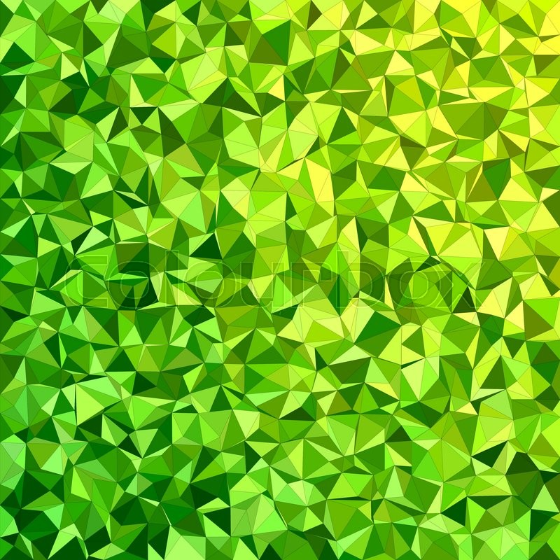 Green Irregular Triangle Mosaic Vector Background Design